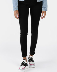 720 High Rise Super Skinny Jeans Black