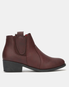 Carlo Bossi Ankle Boots Burgundy