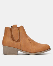 Carlo Bossi Ankle Boots Tan