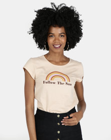 Billabong Follow The Sun Staple Tee Nude