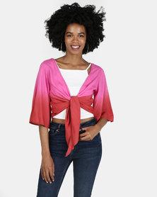 Billabong Get It Twisted Top Pink