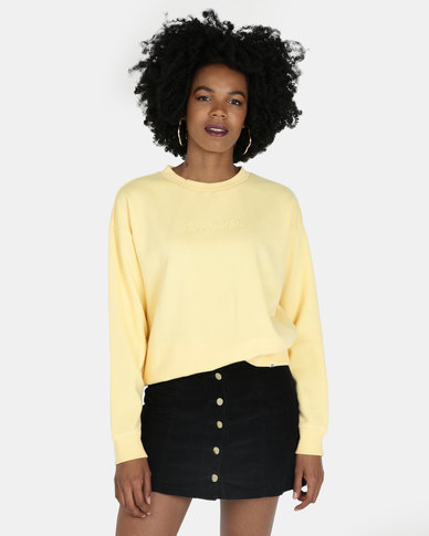 Billabong Vital Crew Sweatshirt Yellow