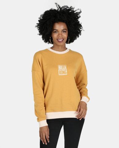 Billabong Line Up Crew Sweatshirt Gold