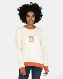Billabong Line Up Crew Sweatshirt White