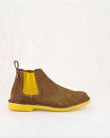 Veldskoen Shoes Chelsea Boots Brown Leather Shoes Yellow Soles