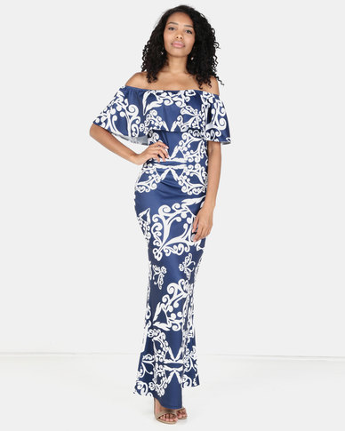 Tenacia Off Shoulder Maxi Dress