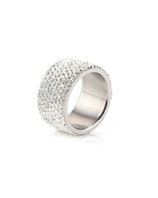 Skyla Jewels 8 Row White Stainless Steel Ring