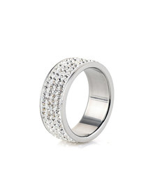 Skyla Jewels 4 Row White Stainless Steel Ring