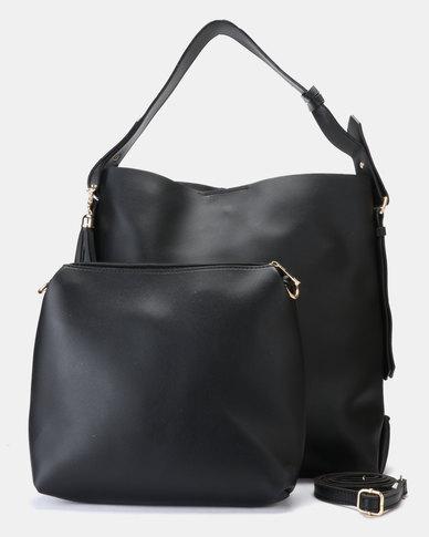 Utopia 2 Piece Handbag Black
