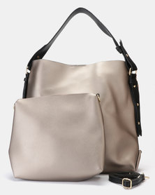 Utopia 2 Piece Handbag Silver
