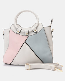Utopia O Handle Handbag Grey