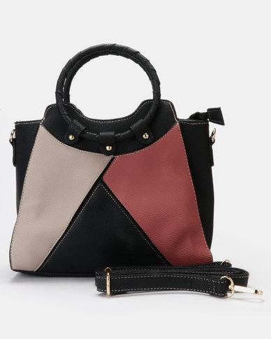 Utopia O Handle Handbag Black