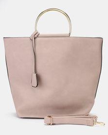 Utopia Metal Handle Handbag Pink