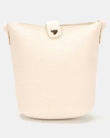 Utopia Embossed Handbag Neutrals