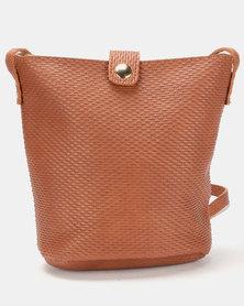 Utopia Embossed Handbag Brown