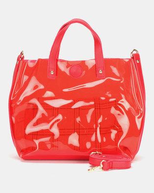 Utopia Jelly Handbag Red