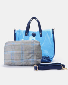 Utopia Jelly Handbag Blue