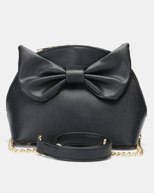 Utopia Bow Trim Crossbody Bag Black