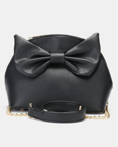 Utopia Bow Trim Crossbody Bag Black