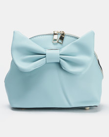 Utopia Bow Trim Crossbody Bag Blue