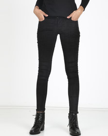 Utopia Stretch Corduroy Trousers Black