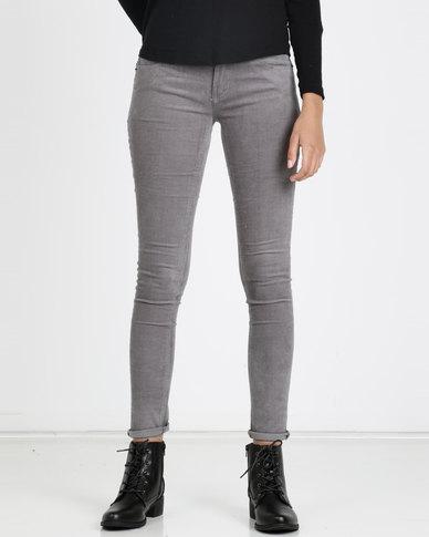 Utopia Stretch Corduroy Trousers Grey