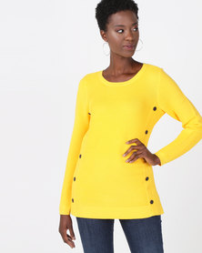 cath.nic By Queenspark Button Trim Core Jersey Yellow