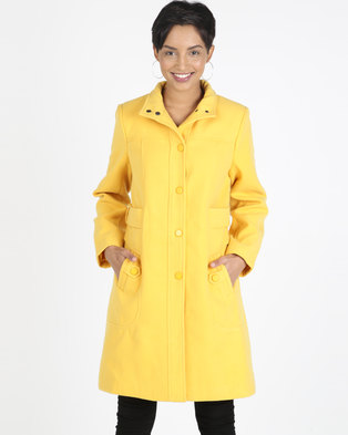 395e7f80a7e076 Queenspark Button through Winters Tale Coat Yellow