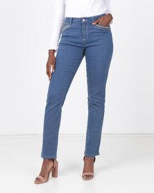 Queenspark Core Programme Woven Denim Jeans Indigo