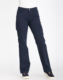Contempo Cargo Trousers Navy