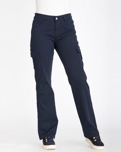 Contempo Cargo Trousers Navy