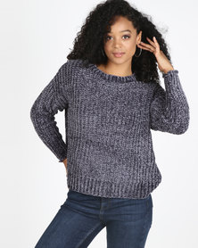 Utopia Chenille Jumper Dark Grey