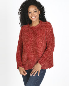 Utopia Chenille Jumper Rust