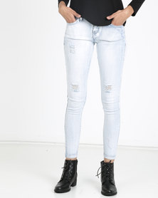 Utopia Acid Wash Skinny Jeans