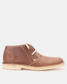 GRASSHOPPERS Desert Saddle Casual Shoe Tan