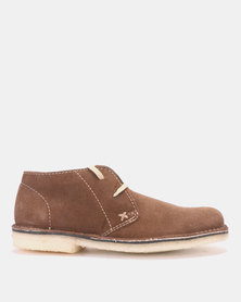 GRASSHOPPERS Desert Buck Suede Casual Shoes Brown