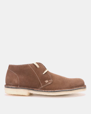 4a2c5d878c9 GRASSHOPPERS Desert Buck Suede Casual Shoes Brown