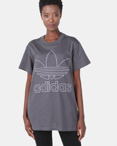 cae76d0b adidas Originals Boyfriend Tee Grey   Zando