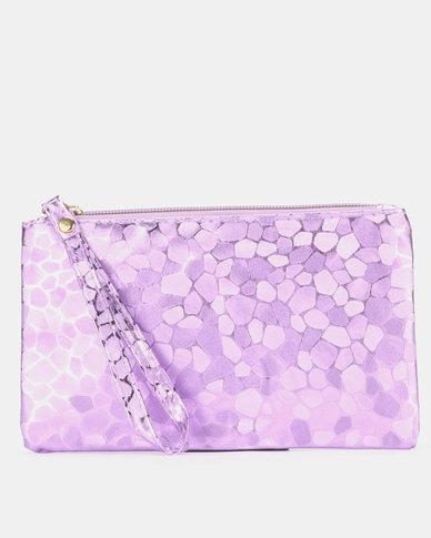 Utopia Glitter Purse Purple