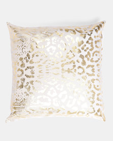 Faisa_Southafrica Foil Animal Print Scatter Cushion Gold