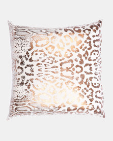 Faisa_Southafrica Foil Animal Print Scatter Cushion Rose Gold
