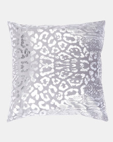 Faisa_Southafrica Foil Animal Print Scatter Cushion Pewter/Silver