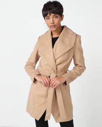 Sissy Boy Melton Coat Camel