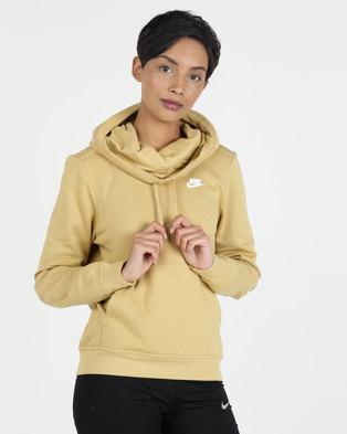 0364996ea Nike W NSW FNL FLC Hoodie Gold