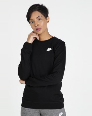 47a328decd6f Nike W NSW Club Crew Fleece Sweatshirt Black
