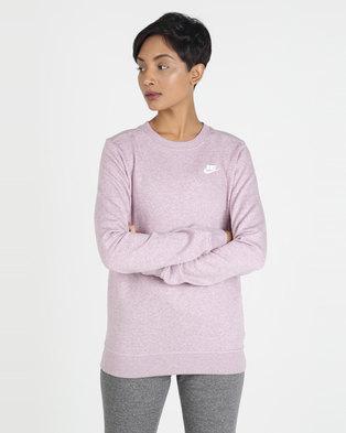 e96a25c52 NIKE W NSW CLUB CREW FLC Sweatshirt Pink