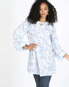 Rip Curl Bell Sleeve Dress White