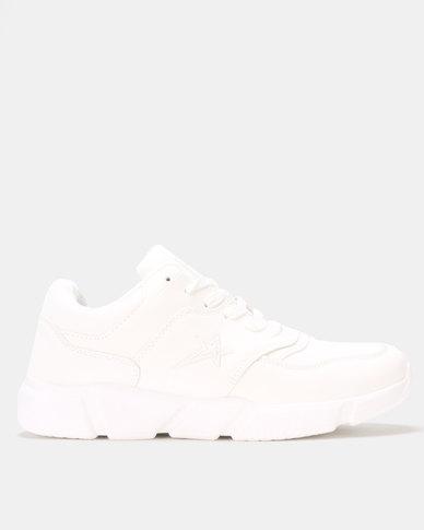 Soviet Knight Sneakers White Mono