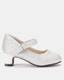 Princess Stardust Glitter Silver heels