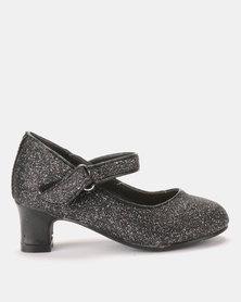Princess Stardust Glitter Black heels